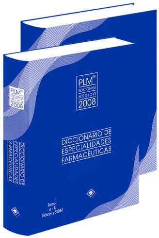 Diccionario de Especialidades Farmacéuticas 2 Vols Edición 2008